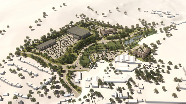 Icreate 3d architectural renderings for Site plan 3d